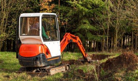 Travaux de terrassement pour construction de maison
